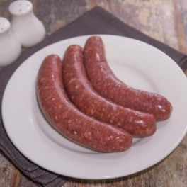 smokey beef, maple sausages