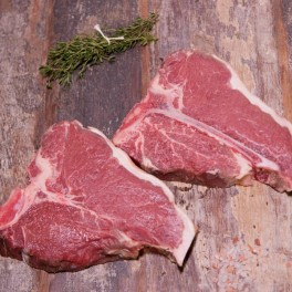 grass fed T-bone steak