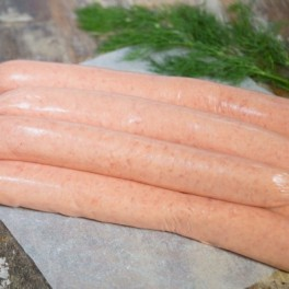 Thin pork sausages