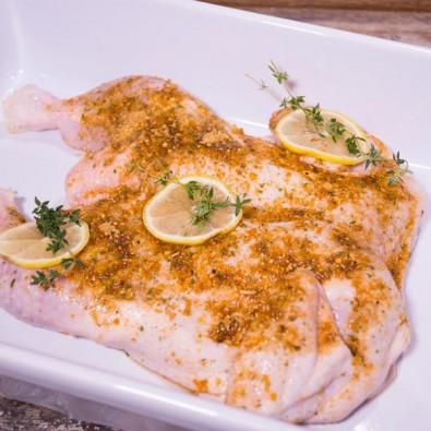 chicken butterflied lemon & garlic