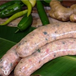 Thai green curry chick sausages