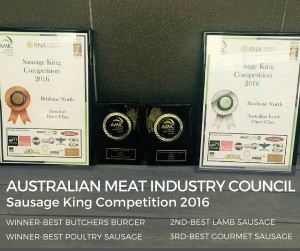Award Winning Sausage trophies