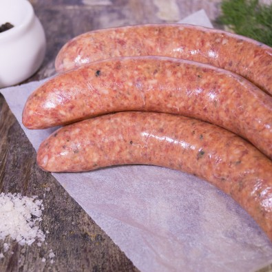 lamb, fig & walnut sausages
