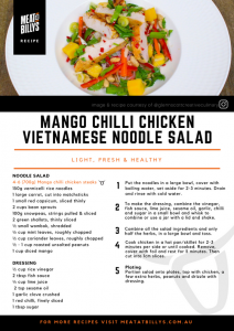 MANGO CHILLI CHICKEN VIETNAMESE NOODLE SALAD Recipe Card A5