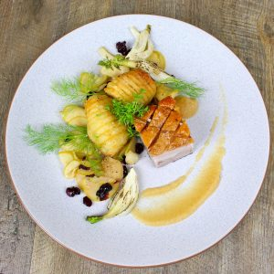 Crispy Pork Belly and Hasselback Potatoes 2