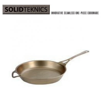 SOLID TEKNICS AUS-ION-Satin-Formed-Iron-Skillet-30cm