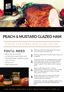 Peach and Mustard Glazed Ham Recipe Card A5