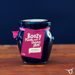 plum & shiraz boozy jam