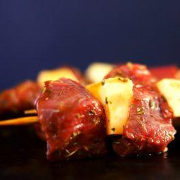 Lamb & Haloumi Kebabs 1