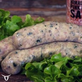 Chicken, spinach & Pine nut Sausages