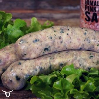 Chicken, spinach & Pine nut Sausages