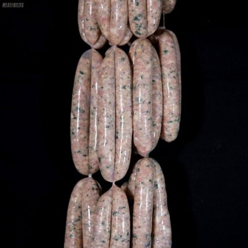Chicken spinach & pine nut sausages