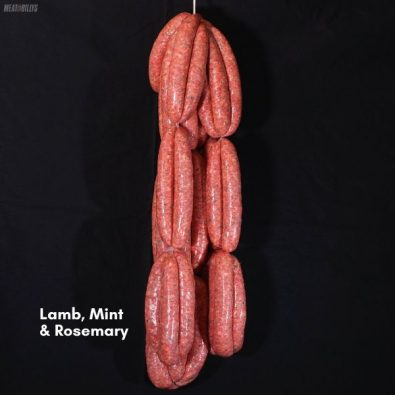 Lamb, ,mint & rosemary sausages