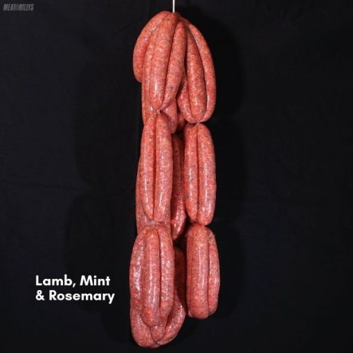 Lamb, ,mint & rosemary sausages