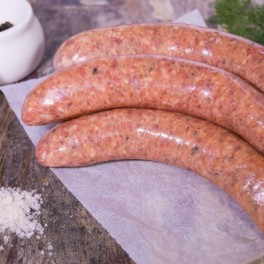 Lamb, mint & rosemary sausages