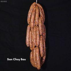 San choy bau pork sausages