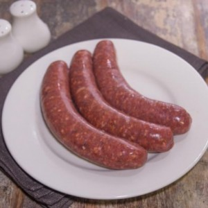 smokey beef & maple sausages