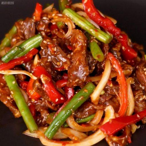 Sticky Beef Stir Fry