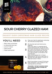 2018 Sour Cherry Ham Glaze Recipe Card A5