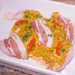 chicken butterflied pumpkin & pancetta