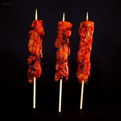 free range chicken kebabs honey soy