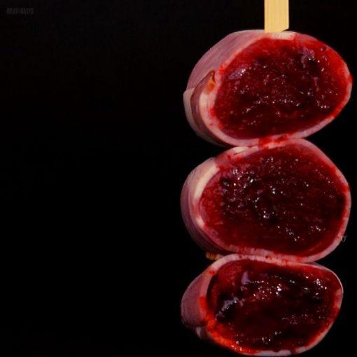 Pork & plum kebab