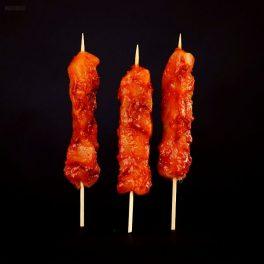 free range chicken kebabs satay