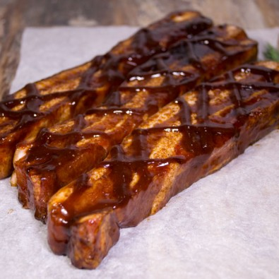 boneless pork belly spare ribs in hickory sauce
