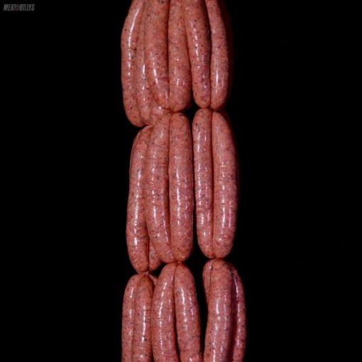 Creamy beef & mushroom sausages