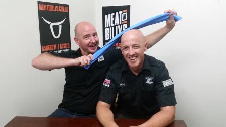 2 bald butchers shiny heads