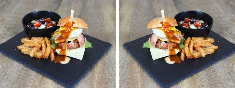 Lamb, mint, haloumi burger 2