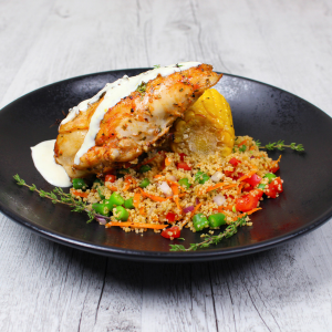 Lemon & Garlic Chicken Roasters with Cous Cous feature image
