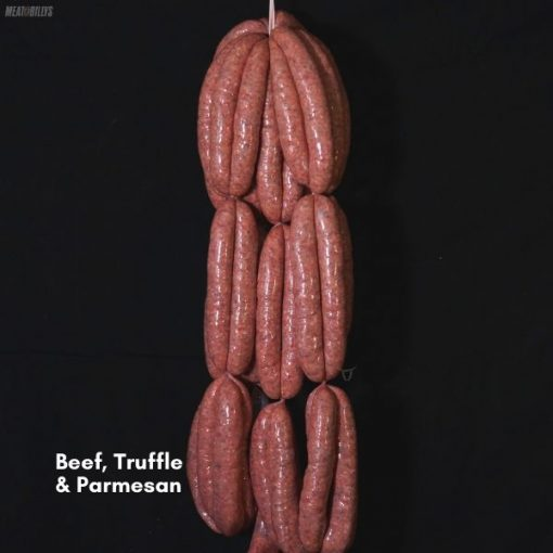 Beef, Truffle & Parmesan Sausages 600x600 feature image