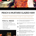 Peach and Mustard Ham Glaze Recipe Card A5