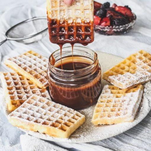 Chocolate salted Caramel & Waffles
