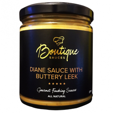 Diane Sauce with Buttery Leek