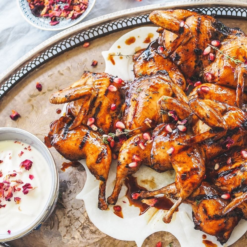 Chargrilled Pomegranate Quail