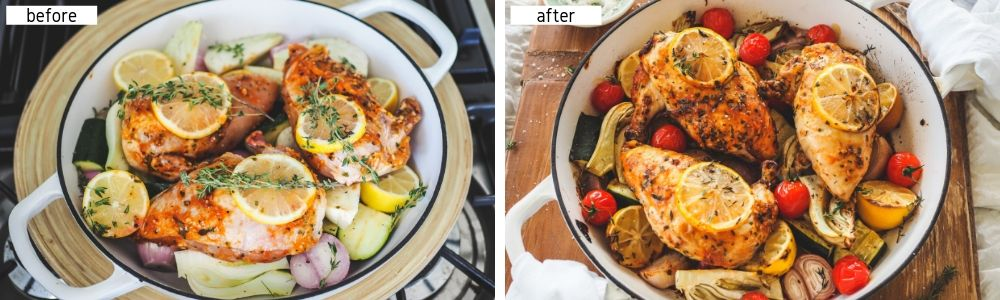 Lemon & Garlic Chicken Supremes_BLOG_1000x300 before & after