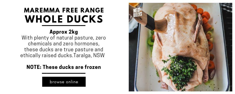 Maremma Free Range Duck Blog Product Highlight
