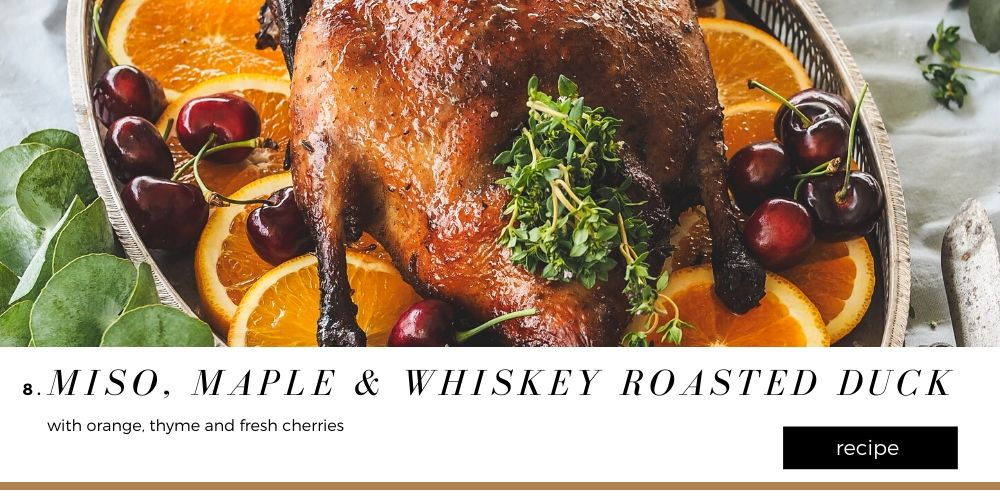 Miso, Maple & Whiskey Roasted Duck Christmas Recipes Blog 1000 x 500 (7)