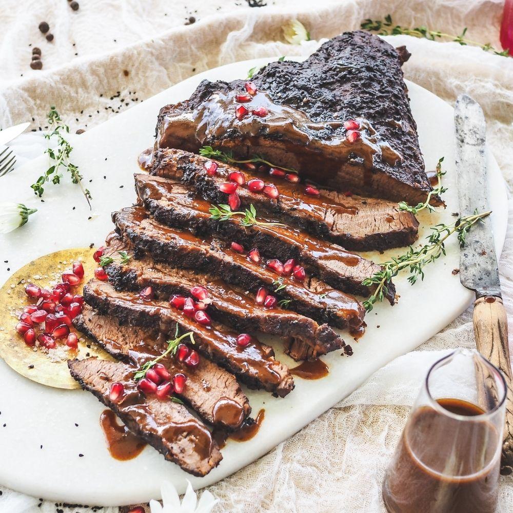 Pomegranate & Christmas Spiced Brisket