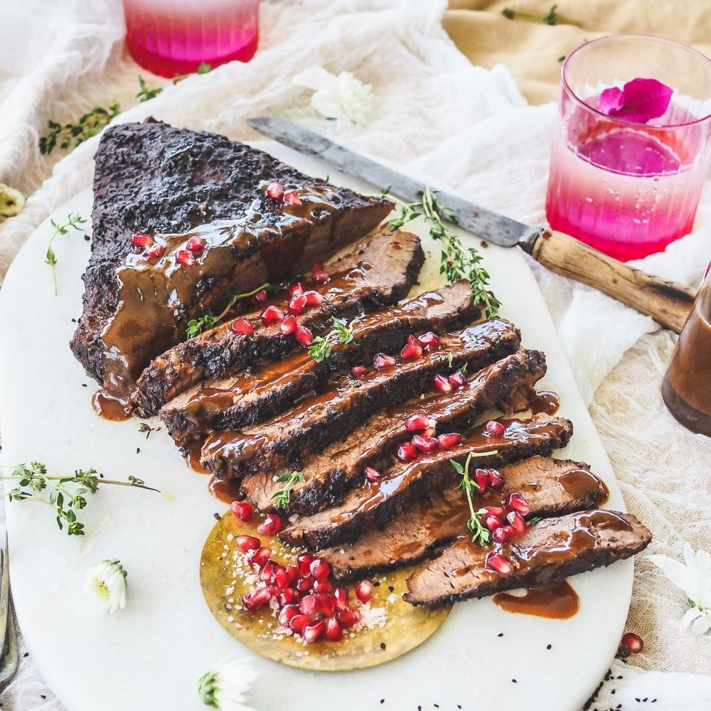 Pomegranate & Christmas Spiced Brisket