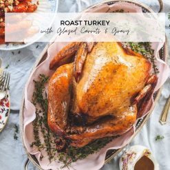 Roast Turkey with Glazed Carrots and Gravy