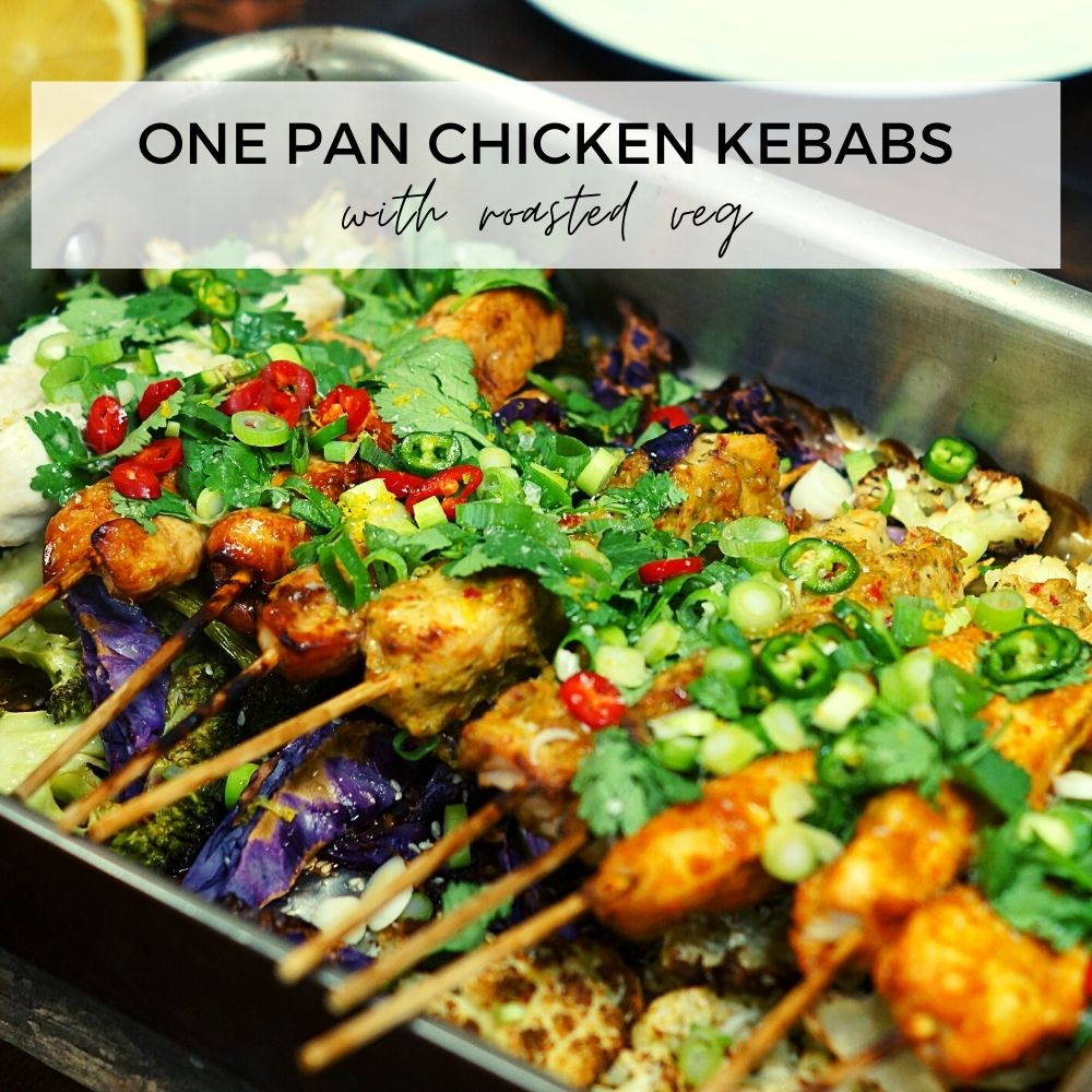 One Pan Chicken Kebabs