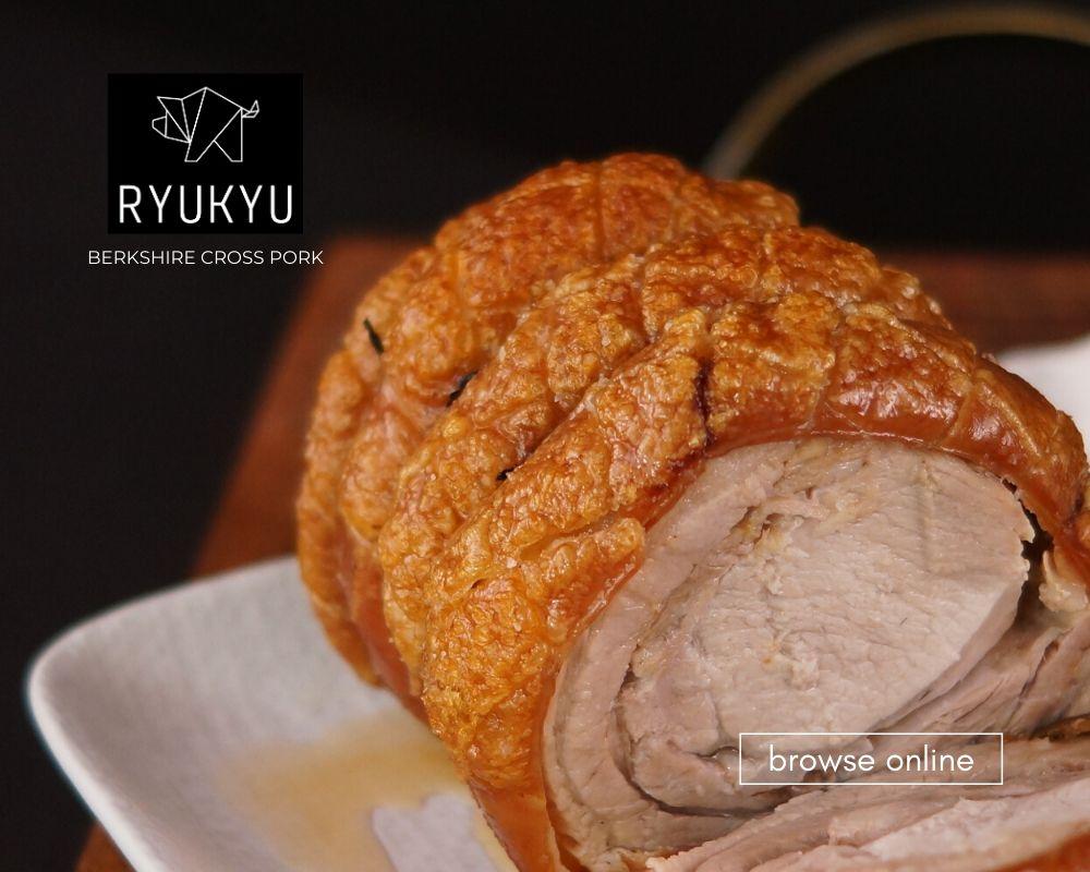 Ryukyu Berkshire Cross Pork Blog_Pork Loin Rack Cooked