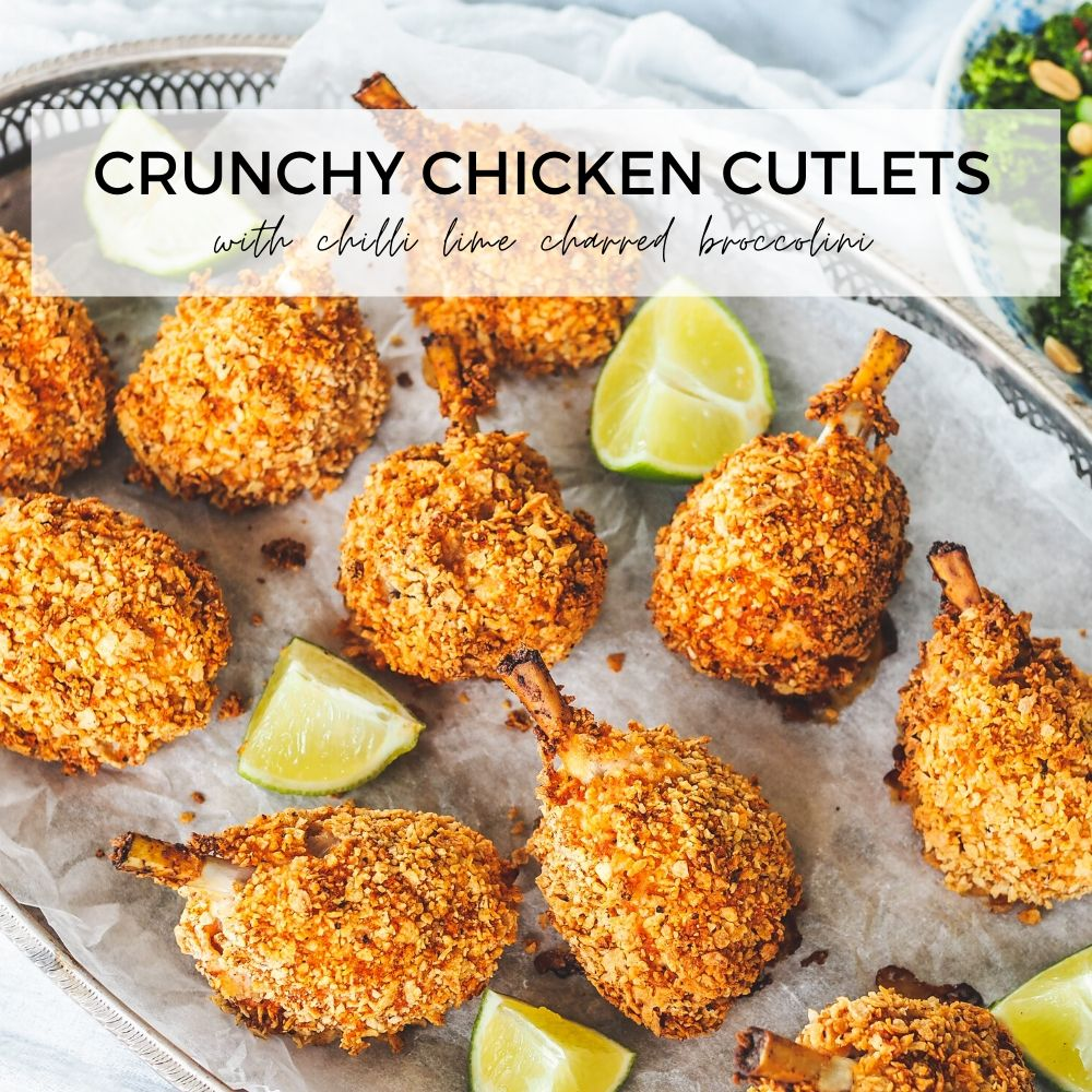 Crunchy Chicken Cutlets header image