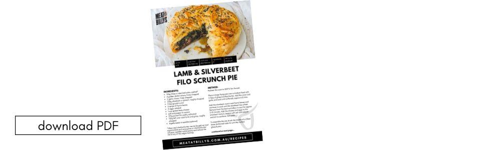 Download PDF Lamb & Silverbeet Filo Scrunch Pie