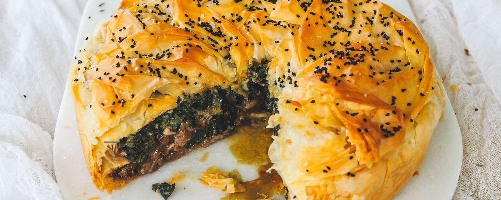 Lamb & Silverbeet Filo Scrunch Pie