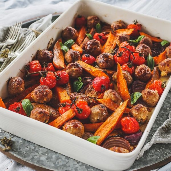 One pan Italian meatballs