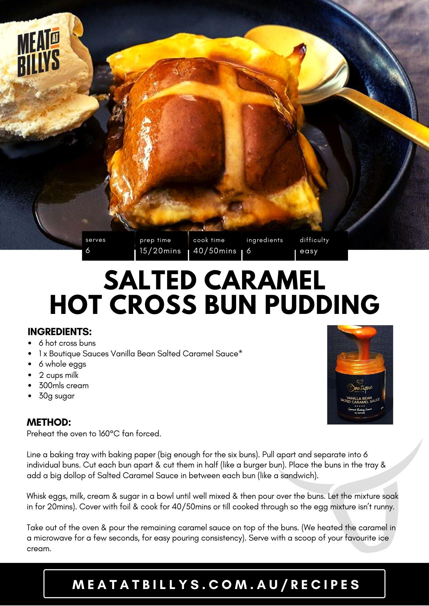 Salted Caramel Hot Cross Bun Pudding